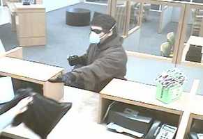 Auburndale police are searching for a man who robbed a TD Bank Tuesday morning.
