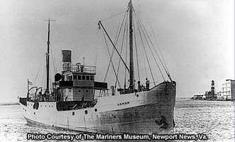 Vamar was built in 1919, originally christened Kilmarnock.  The vessel was used and reused many times and eventually was used as a tramp freighter.