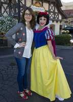 Tina Fey visited Snow White at Epcot on Feb 18, 2013.