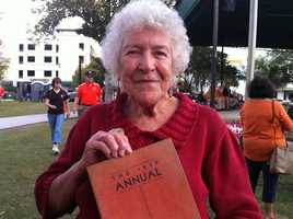The star of the show was 91-year-old Flora Twachtman, who was on the women'sswim team in 1939.