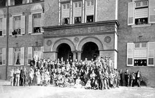 Stetson University was founded in DeLand in 1883.  This picture is from the steps of Elizabeth Hall in 1891.