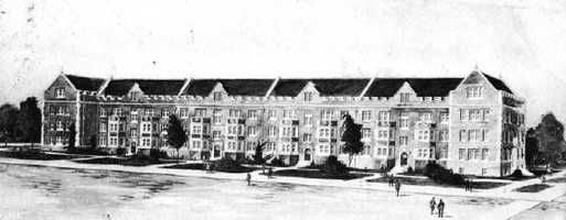 In 1853, East Florida Seminary took over the Kingsbury Academy in Ocala, and then moved the seminary to Gainesville in the 1860s.  After consolidating with the Florida Agricultural College, the college became a university and classes first met with 102 students on the present site on Sept. 26, 1906.  This picture is of the campus in 1907.