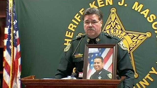 Sheriff Ken Mascara at Sgt. Gary Morales news conference