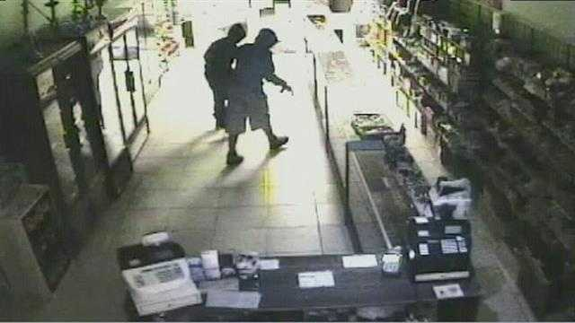Men caught on camera stealing from Osceola County store. Police say they robbed at least 3 stores nearby.