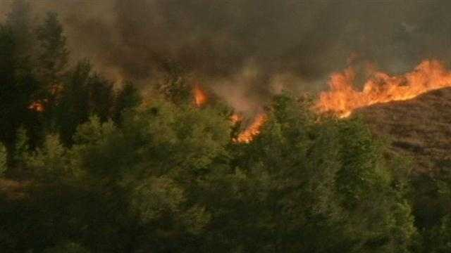 Dry conditions increase fire threat