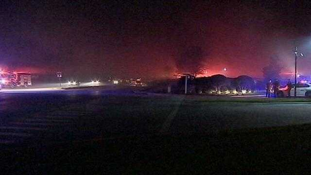 East orange county wildfire threatens apartment complex