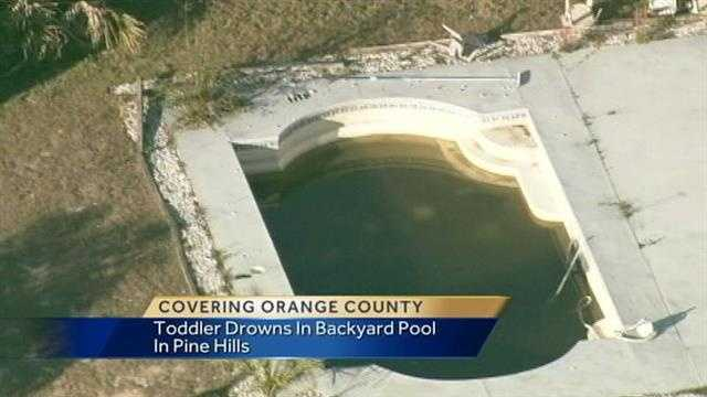 The tragic drowning of a three year old in a backyard pool under investigation tonight in Pine Hills.