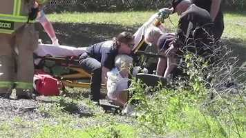 They said she suffered only minor injuries.