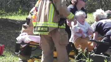 A rescue crew brought her to a hospital to be formally checked out.