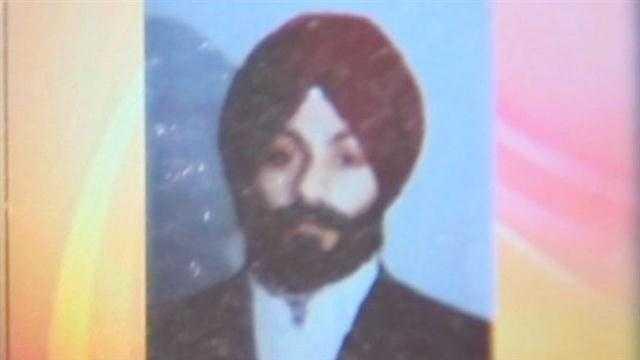 More than half a dozen bullets were fired into an observant Sikh's car as he drove over a bridge last week.