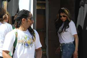 Lil Jon and La Toya Jackson standing around.