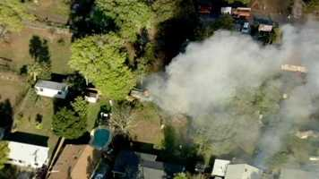 A raging shed fire filled a Winter Park neighborhood with smoke on Friday.