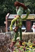 Woody from Toy Story stands tall in the Smokehouse section of the festival, where the BBQ is served.