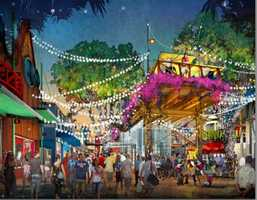 According to the photos, Disney Springs will include a new town center with new buildings, though it's not clear what those buildings will be.