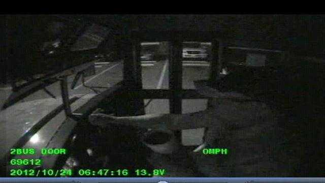 A Seminole County school bus driver is out a job after this surveillance video showed him stopping to pick up breakfast.