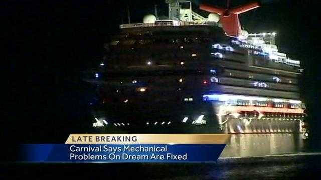 Troubled Carnival cruise ship returns to Port Canaveral