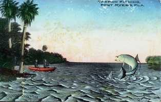Tarpon Fishing in Fort Myers in 1910.