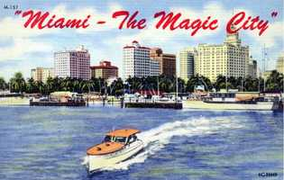 "Miami is dubbed ""the Magic City"" in this undated postcard."