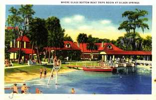 Where glass bottom boat trips begin -- Silver Springs.