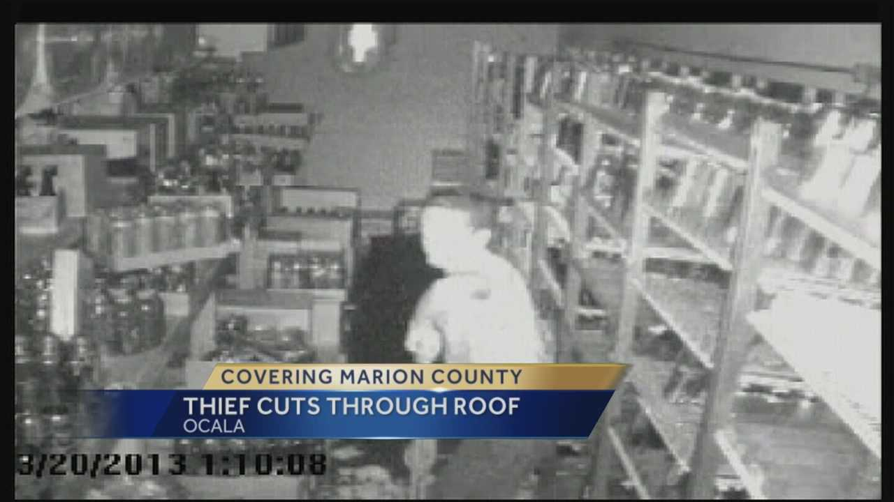 A 15-year-old is accused of busting through the ceiling of a Summerfield liquor store and stealing energy drinks and alcohol.