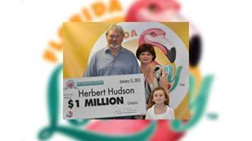 St. Augustine resident, Herbert Hudson, won $1 million in the 25th Anniversary Edition Millionaire Scratch-Off game.