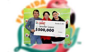 Jennifer Lopez, of Orlando, claimed a $500,000 prize in the $3,000,000 Monopoly Scratch-Off game.