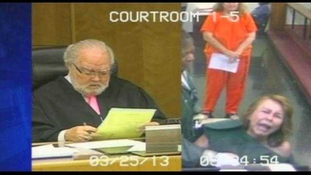 A Miami woman accused of killing her husband had an emotional meltdown in court.