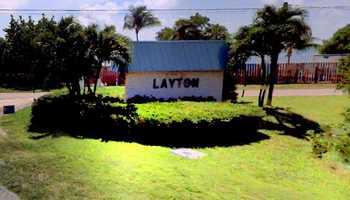 10. Layton (Monroe County) - 180 pop.
