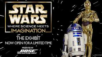 Star Wars: Where Science Meets Imagination: Orlando's Science Center hosts a 10,000-square foot exhibit inspired by the 'Star Wars' films. The event ends Sunday. It's free with the cost of museum admission ($27 for adults and $20 for children 3 to 11).