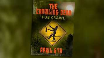 Zombie Pub Crawl: Zombies take over downtown Orlando on Saturday. A Wall Street pre-party starts at 6:30 p.m. and the pub crawl begins at the Wai Tiki Lounge and Hooch at 8 p.m. Cover is $10.