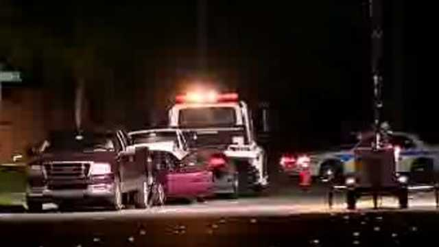 A man stopped along Rock Springs Road was killed when another vehicle crashed into his car.