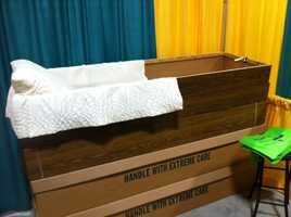 Anyone on a budget can purchase a cardboard casket for around $250.