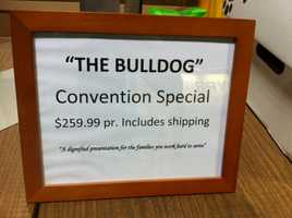 """The cardboard casket is known as """"The Bulldog."""""""