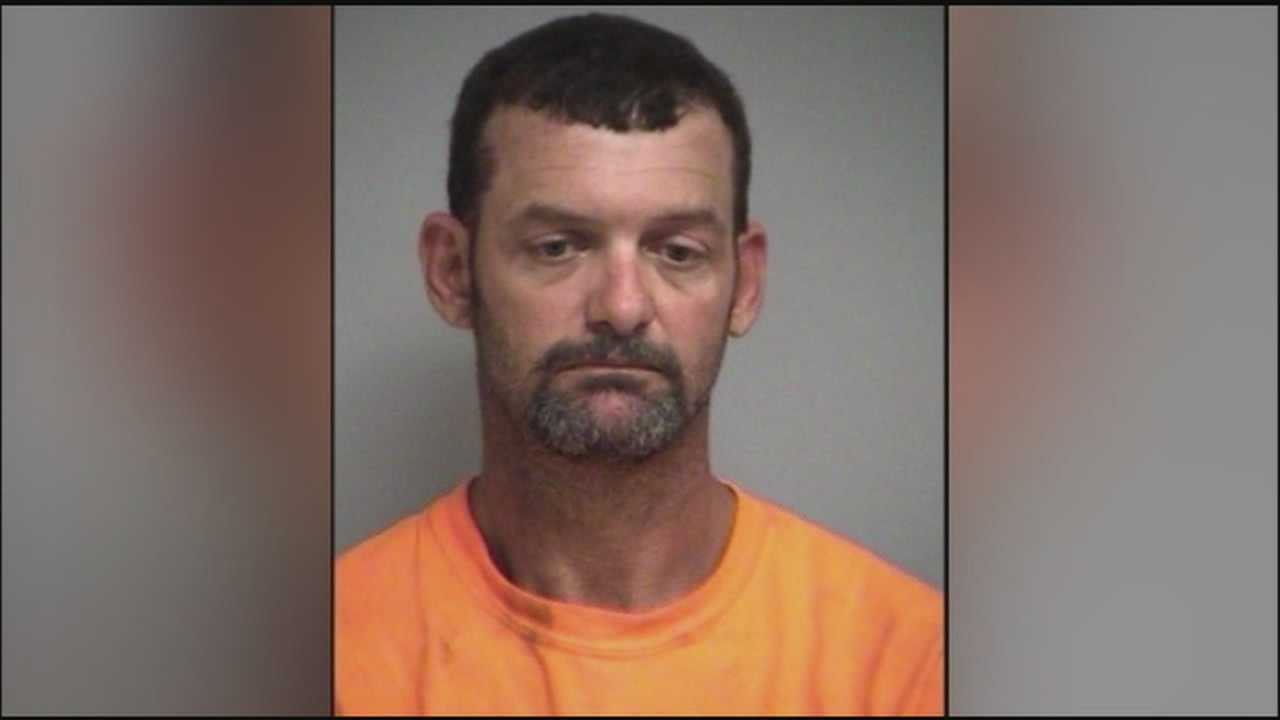 A Lake County man is accused of beating his wife with a baseball bat.