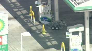 The Orange County Sheriff's Office is investigating a suspicious package that was found at a gas station in east Orange County.