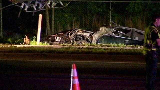 Car hits pole, knocking out power in Orange County
