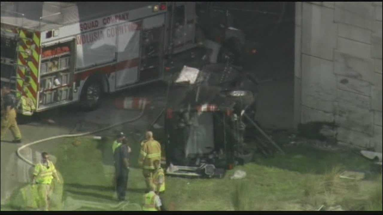 Three people are killed in a crash on Interstate 95 in Volusia County.