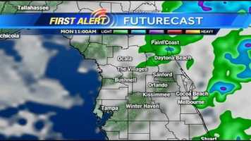 Rain is expected in Central Florida today. See an hour-by-hour view of what to expect.