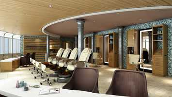Senses Spa & Salon on the Disney Magic features a redesigned salon area with additional styling, manicure and pedicure stations with the latest equipment.