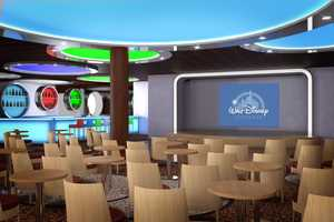 The reimagined D Lounge on the Disney Magic offers a variety of family-friendly games, shows, dances and activities designed for everyone to join.