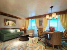 Concierge Suites on the Disney Magic have been redesigned with more space and new luxurious décor, featuring an ocean-view quarter where guests can relax in the comfort of their own suite.