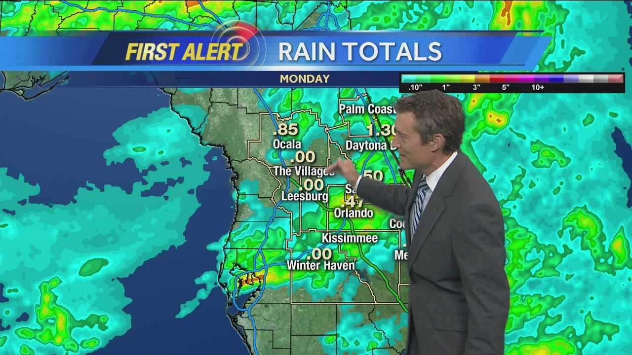 Heavy showers, storms Tuesday