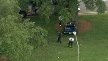 Two people were thrown from a vehicle when it crashed into a tree along Hiawassee Road.