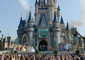 "Merida, from the Disney film, ""Brave,"" was officially welcomed into the Disney Princess Royal Court on Saturday."