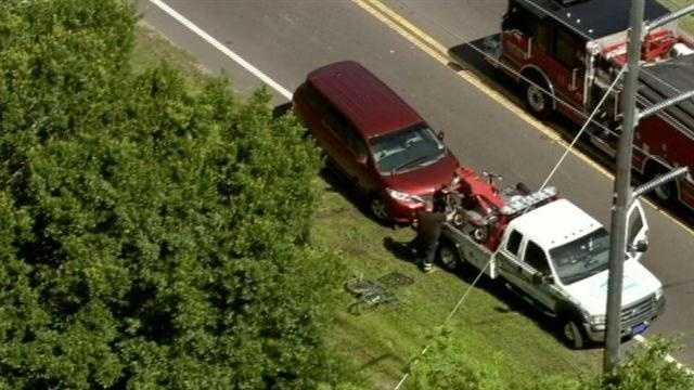 Van hits bicycle in Sanford.jpg