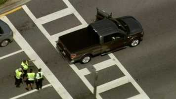 Two pedestrians were rushed to the hospital after they were hit by a truck on Orange County on Thursday morning.