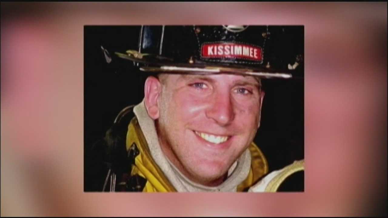 A Kissimmee firefighter was laid to rest on Tuesday, just days after he was killed in a crash.