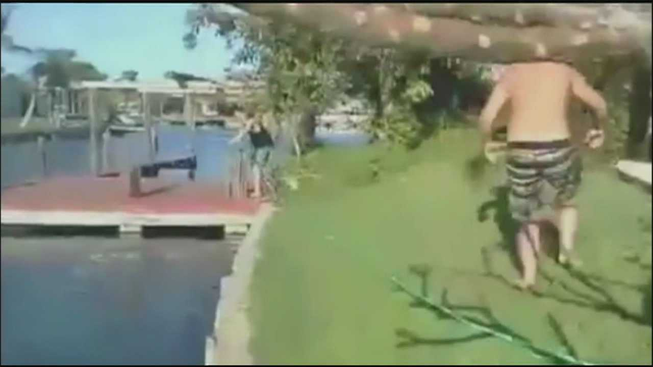 Men who jumped on top of manatees in a canal may soon face charges.