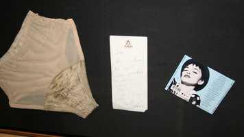 9. Madonna's signed underwear