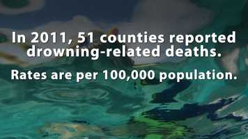The most recent drowning data from the Department of Health is 2011.